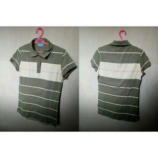 Green stripes poloshirt for Her (S-M)