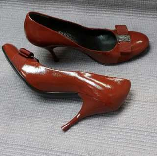 Salvatore Ferragamo Red High Heels