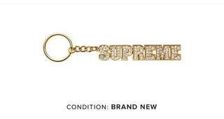 Supreme Gold Key Chain