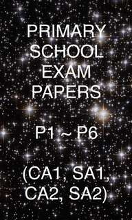 PRIMARY SCHOOL EXAM PAPERS