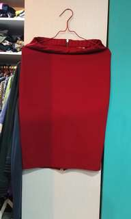 Midi skirt bahan kaos tebal melar,  bagun bngt ngeshape body,  pinggang stretch fit to L