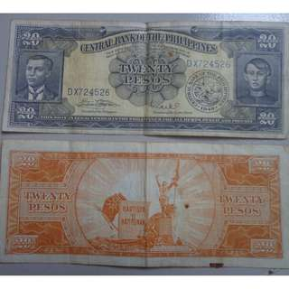 Php20.00 Early Bank Note