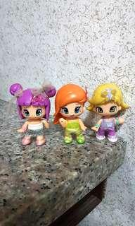 3-pc Pinypon Dolls