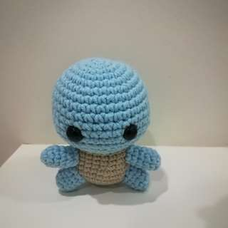 Amigurumi Handmade Soft Toy: Squirtel the Turtle(Pokemon)
