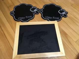 方形黑板,羊咩咩黑板,婚禮佈置, Pre- Wedding拍攝道具