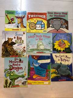 A bundle of 9 paperbacks for children.