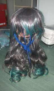 Two tone wig (Grey to Green)