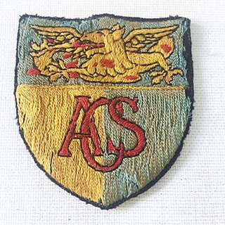 Vintage ACS Anglo Chinese School Sports Team Patch