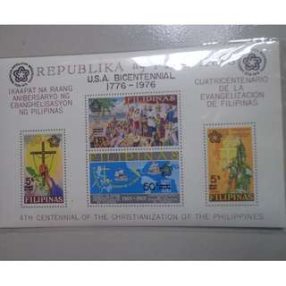 USA Bicentenial - Philippine Issue Souvenir Sheet