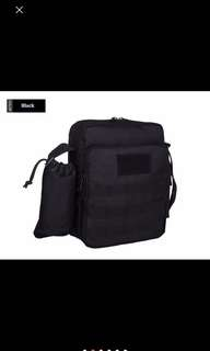 Multifunction tactical shoulder bag with bottle compartment
