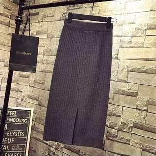 🚚 加厚版針織螺紋包臀半身裙