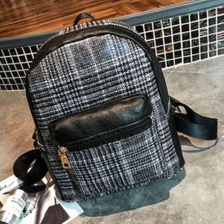 Brand New Checkered Plaid British Style Backpack Bag
