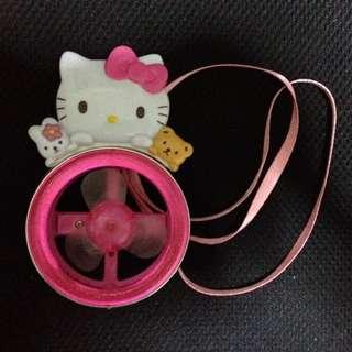 Pink Hello Kitty Portable Fan With Landyard