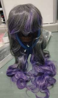 Two tone wig (Grey and Purple)