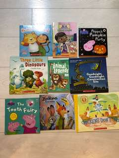 A bundle of 9 children's books.