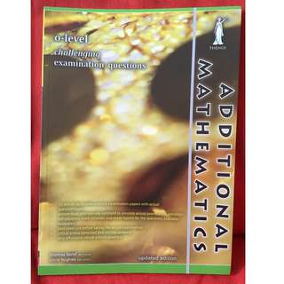 O Level Challenging Examination Questions Additional Mathematics. Popular sells $12.95.