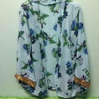 Sequin Kimono Cardigan