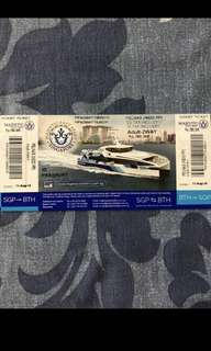 Batam ferry ticket majestic ferry ticket Indonesia passport 2 way all tax included