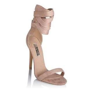 Billini Gwyneth Blush Suede heels