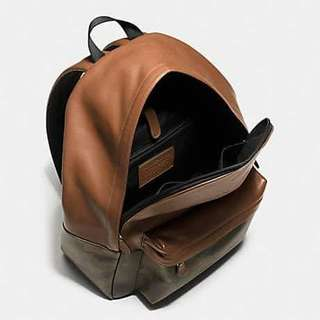 Coach Green Camo leather backpack