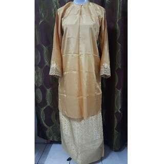 Preloved Gold color Baju Kurung