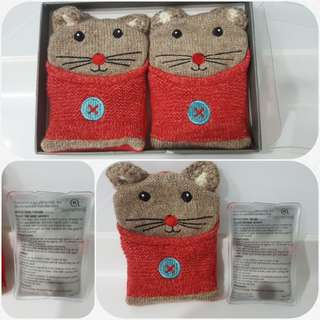Hand Warmers Knitted Mouse fr Aroma Home UK