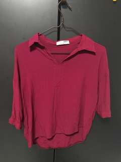 Liver Red Blouse