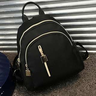 Brand New Plain Korean Ulzzang Style Backpack Bag Gold-Yellow Zip
