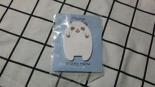 Panda sticky note