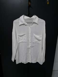 Oversize White Blouse
