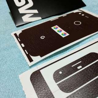 Slickwraps for google pixel (OG) XL brown leather