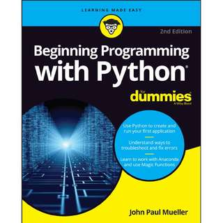 For Dummies Beginning Programming with Python  2nd Edition
