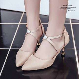 HEELS SHOES size: 35,36,37,38,39 Adjust 1 Size