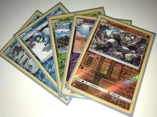 Pokémon TCG Reverse holo set