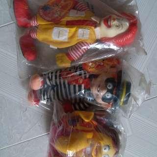 麥當勞97年開心樂園玩具經典主角