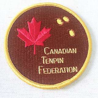 Vintage CANADIAN TENPIN FEDERATION Bowling Team Patch Lot of 2 New