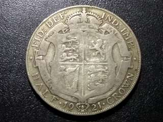 1921 Silver Half Crown Great Britain King George V