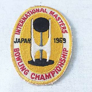 Vintage INTERNATIONAL MASTERS BOWLING CHAMPIONSHIP JAPAN 1969 Sports Team Patch