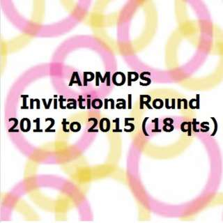 APMOPS Invitation Rd 2012 to 2015 (18 Qts)