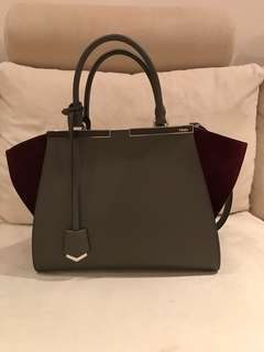 Fendi 3 Jours suede-paneled leather tote