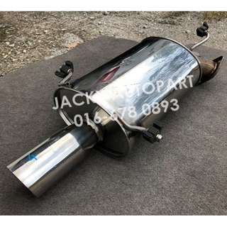 "Exhaust Muffler Fgk Legalis R 3"" Sflow Turbo Japan"