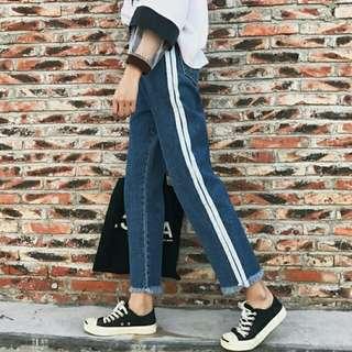 Spring Korea ulzzang vintage loose long jeans