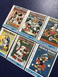 1992 塞拉利昂 迪士尼郵票 米奇生活系列 6全