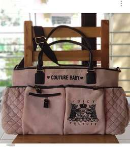 Authentic Juicy Couture Baby Velour Two-way Diaper Bag