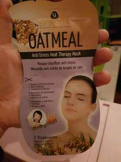 Oatmeal therapy mask