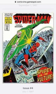 Old spider-man comics magazine issue 4 1987