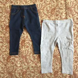 Bundle of 2 leggings (9-12mos)