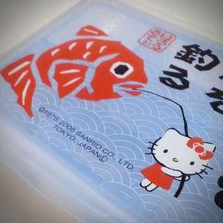 Hello Kitty 空運直送 日本限定 公仔圖案 釣大魚 藥丸盒 0222281
