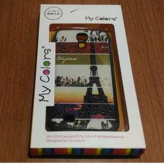🚚 三星GALAXY S4 手機殼 My colors 浮雕立體彩繪矽膠手機殼 保護殼(巴黎鐵塔)