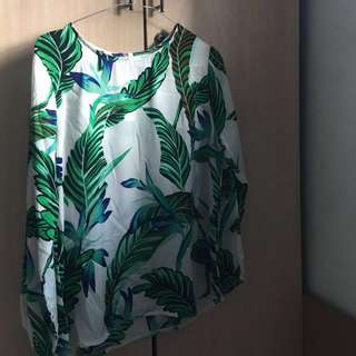 Tropical Sheer top